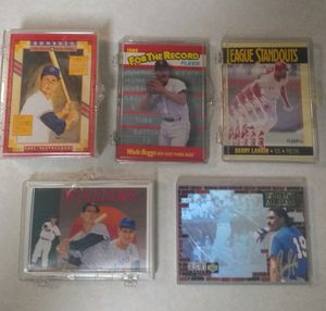 Set of 5 Small Baseball Card Sets, Leagues Standout, For the Record, Williams, Home Run All-Stars and MLB Puzzle for Sale in Nashville, TN