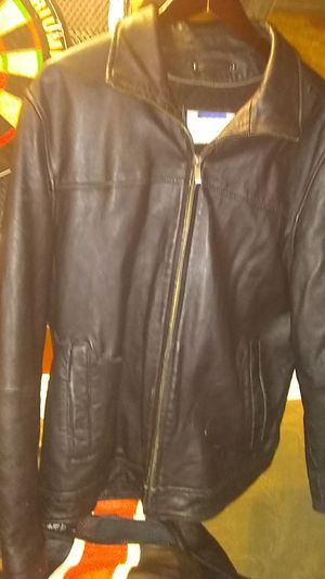 Wilson leather company black leather jacket for Sale in Kathleen, GA