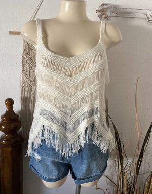 White fringe boho top for Sale in Los Angeles, CA