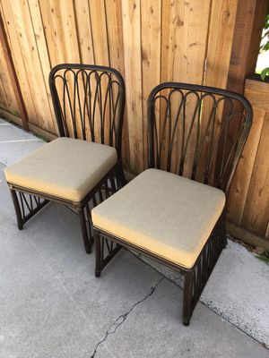 Rattan side chairs, great condition! for Sale in Santa Ana, CA