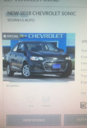 New 2018 Chevy Sonic for Sale in Dallas, TX