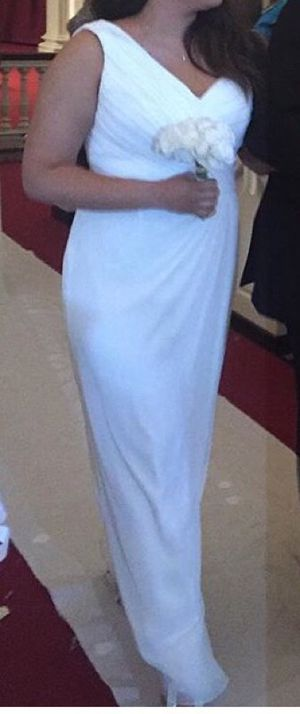 White formal dress / bridesmaid dress / wedding dress for Sale in Manassas, VA