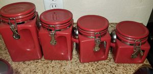 Red Kitchen Canister set for Sale in Ontario, CA