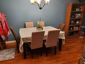 Dining set 6 chairs Good condition there is some small scratches on the table nothing big for Sale in Pleasanton, CA