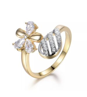 18K Yellow Gold Filled Adjustable Rings with ring box for Sale in Aldie, VA