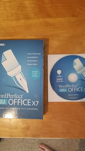 Corel Wordperfect Home & student office 7 for Sale in Livermore, CA