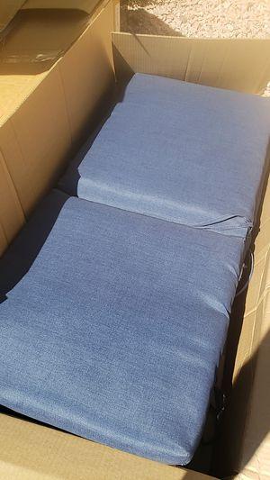 20x44 blue outdoor patio furniture cushions. for Sale in Mesa, AZ