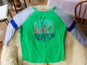Cat & Jack 'Play Hard & Be A Champion' Baseball Tee/ Shirt, XL (14-16) for Sale in Chicago, IL