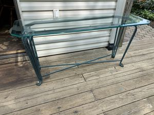 Beautiful Glass and Iron Sofa/Entry Table. for Sale in Bowie, MD
