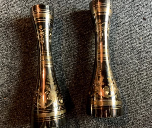 Set of two Traditional style candle holders