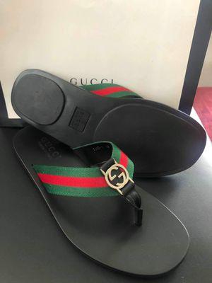 Brand new gucci men sandal size 9 10 11 for Sale in Dania Beach, FL