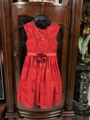 Red lace dress for girl size 6, $ 50.00 for Sale in Miami, FL