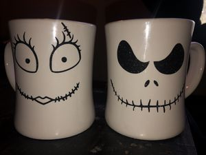 Nightmare before Christmas mug set for Sale in San Antonio, TX