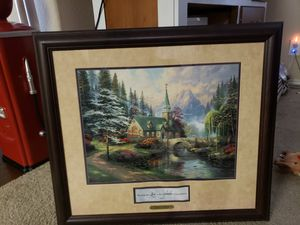 Picture Thomas Kinkade dogwood chapel for Sale in Irving, TX