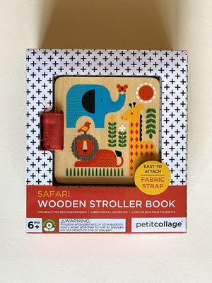 New Petit Collage Safari Wooden Stroller Book Toy For Baby for Sale in Glendale, CA