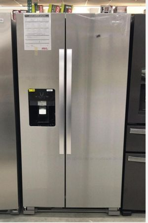 Whirlpool - 24.6 Cu. Ft. Side-by-Side Refrigerator - Stainless steel Model:WRS325SDHZ SKU:5991300 for Sale in Houston, TX