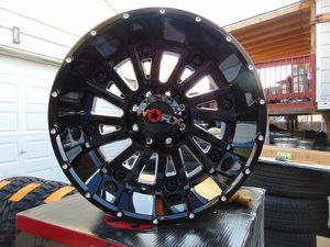 Brand New 20X12 Gloss Black & Machined WORX Rims *8X6.5**-44MM Offset* for Sale in Aurora, CO