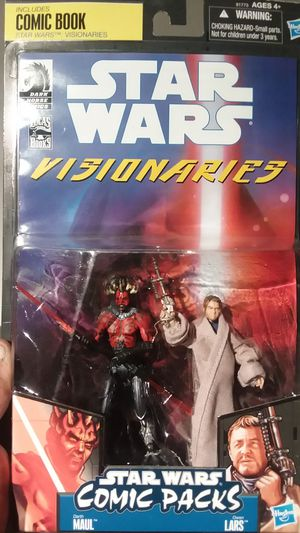 2010 SDCC Exclusive Star Wars Visionaries Comic Pack Darth Maul and Owen Lars 2010 for Sale in Oceanside, CA