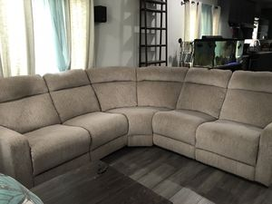 Sectional couch both sides fold out for Sale in Turlock, CA