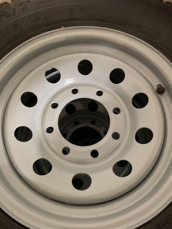 235-80-r16. Trailer tire set 4. 8 lug