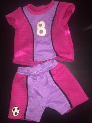 american girl doll soccer and softball uniform for Sale in Las Vegas, NV