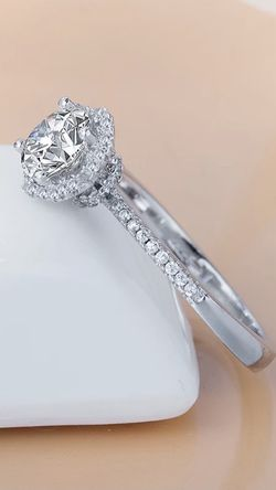 Beautiful 925 Sterling Silver Diamond Promise Engagement Wedding Ring for Sale in San Jose,  CA