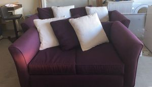 Purple couch and love seat for Sale in Phoenix, AZ