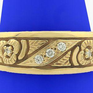 U3717 DIAMOND RING MENS WEDDING BAND 14K GOLD 0.10CT 7GRAMS SZ9 for Sale in San Diego, CA