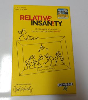 Relative insanity board game for Sale in Chicago, IL