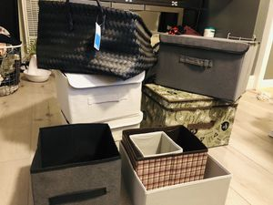 Storage containers boxes and baskets for Sale in Oakland, CA