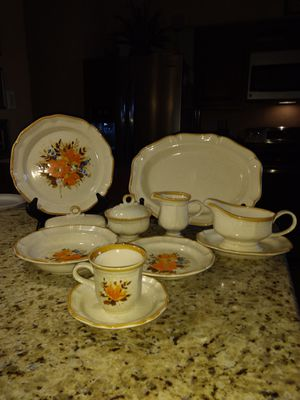 Mikassa Flower Fest circa 1977 complete service for 8 for Sale in Hilldale, PA