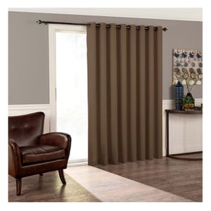 Eclipse Thermal Blackout Tricia Patio Door Window Curtain Panel - Brown for Sale in El Monte, CA