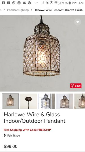 Pottery Barn Harlowe pendant lights (2) for Sale in Tumwater, WA