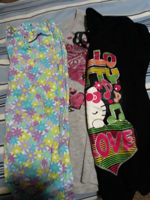 Long sleeve shirt, hello kitty shirt,flower pants for Sale in Portland, OR