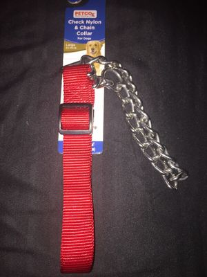 Check Nylon & Chain Collar for Dogs Large 44-110lbs for Sale in Orlando, FL