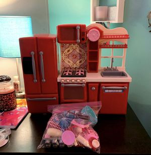 American girl doll kitchen set with items for Sale in Hanover, PA
