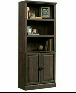 """💯Better Homes & Gardens 71"""" Crossmill 3 Shelf Bookcase with Doors, Heritage Walnut Finish for Sale in Houston, TX"""