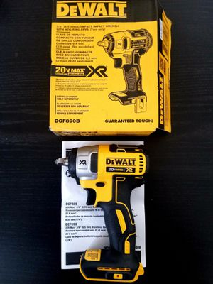 Dewalt XR Brushless 3/8 Impact Wrench for Sale in San Jacinto, CA
