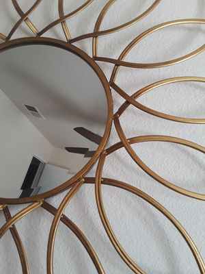 Decorative beveled gold mirror for Sale in Ceres, CA