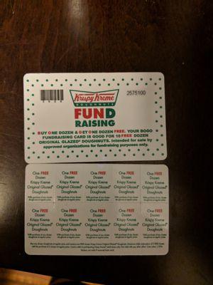 3 NEW-Krispy Kreme Buy one get one free cards for Sale in Pico Rivera, CA