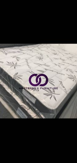 QUEEN MATTRESS BED PILLOW TOP COMFORT FREE BOX SPRING 🎗️Mattress&Furniture🎗️ QUEEN FULL KING TWIN 🎗️ COLCHONES NUEVOS Y CAMAS for Sale in Miami Beach,  FL