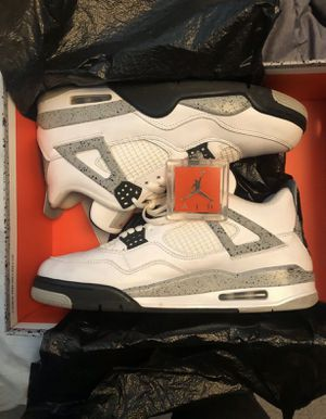 Mens Nike Air Jordan retro 4 white cement size 11 for Sale in Laurel, MD