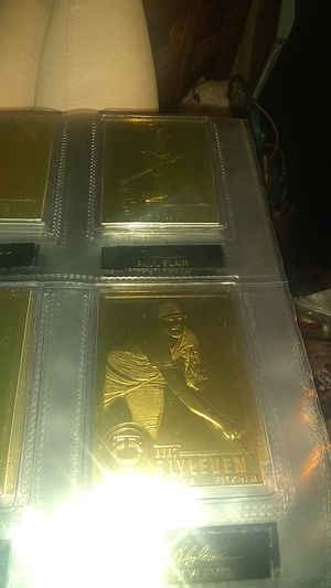 24KT GOLD BASEBALL CARDS for Sale in Seattle, WA
