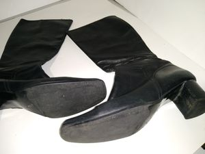 Italian leather women's size 11 black boots for Sale in Baltimore, MD