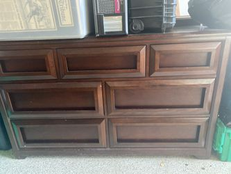 Solid Wood Dresser & Full over Full bunk beds for Sale in Solana Beach,  CA