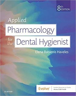 Applied pharmacology for the dental hygienist 8th edition by Bablenis Haveles 9780323595391 eBook PDF Free instant delivery for Sale in City of Industry,  CA