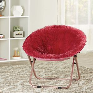 Brand New Kid Size Faux Fur Saucer Chair in Red for Sale in Dunwoody, GA