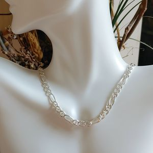 """🎁 New 17"""" sterling silver figaro chain for Sale in Margate, FL"""