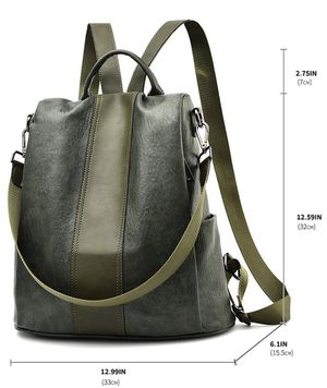 Women Backpack Purse Leather Anti Theft Waterproof Detachable Covertible Casual Travel Shoulder Bag for Sale in Goodyear, AZ
