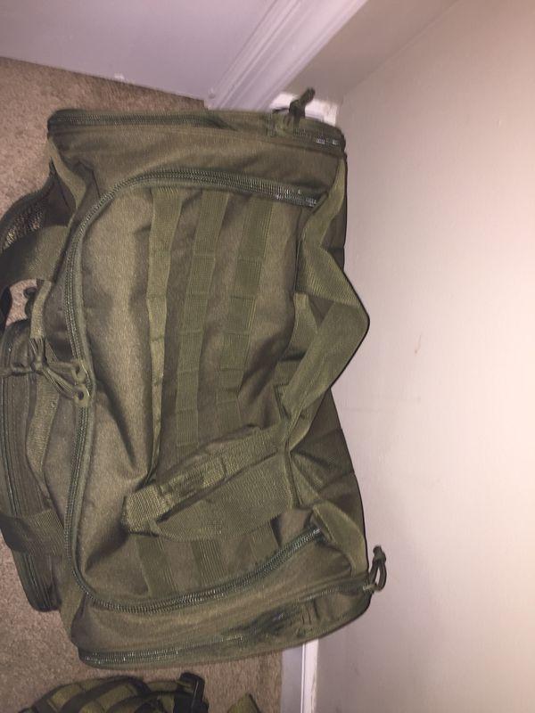 Tactical Backpack & Duffel bag
